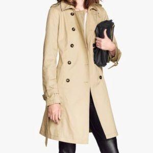 H&M khaki trench coat EUC